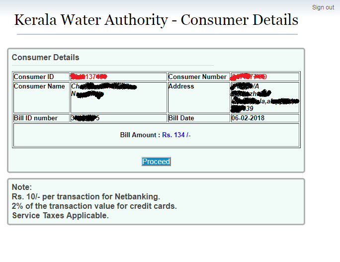 KWA Online Payment
