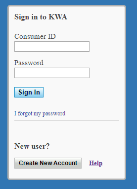 kwa online payment login