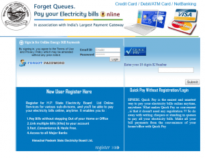 HPSEB Online Bill Payment Quick Pay – View and Pay Himachal Pradesh State Electricity Board Bill Online