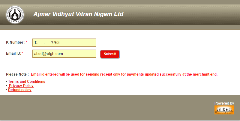 AVVNL Online Bill Payment – Quick Pay Rajasthan Ajmer Vidyut Vitran Nigam Electricity Bill Online Without Registration