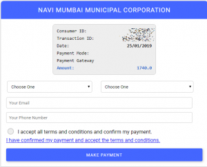 NMMC Water Bill Payment Online – View and download water bill,water ledger and pay Navi mumbai water bill online