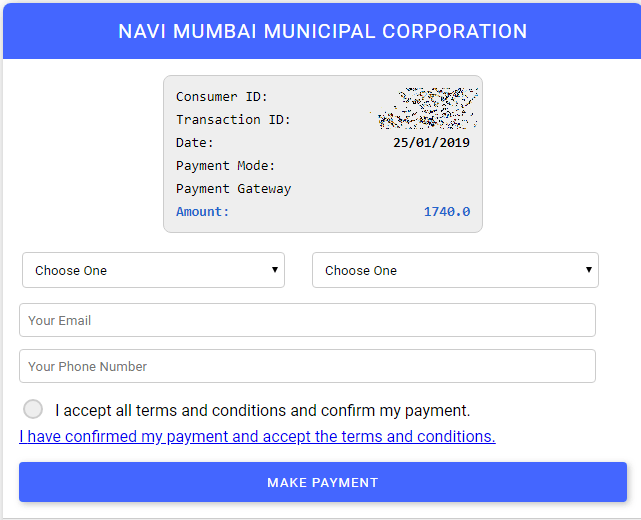 Navi Mumbai Municipal Corporation Water Bill Payment Online