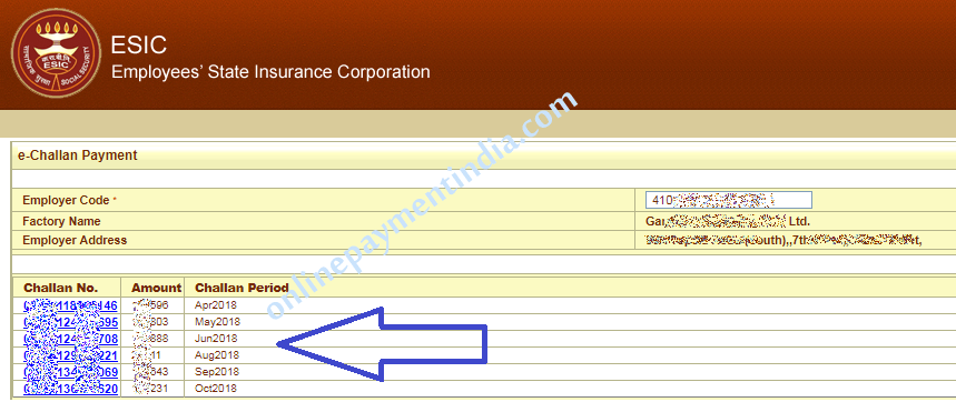 ESIC Online Payment