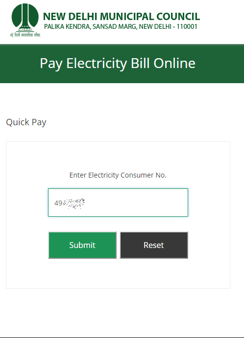 NDMC Electricity Bill Payment – Quick Pay New Delhi Municipal Council Electricity Bill Online Without Login and Registration