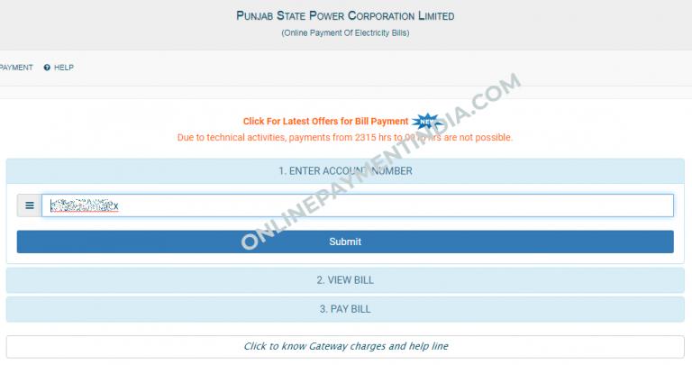 PSPCL Online Bill Payment & PSPCL Bill View