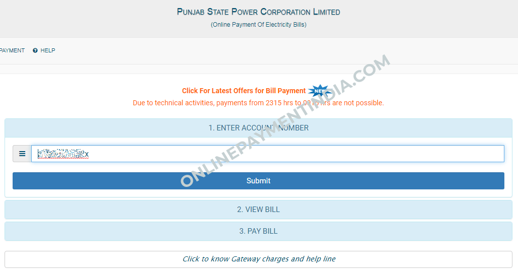 PSPCL Online Bill Payment | PSPCL Bill View without Registration and Login
