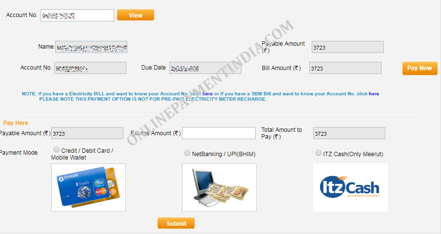 UPPCL Online Payment