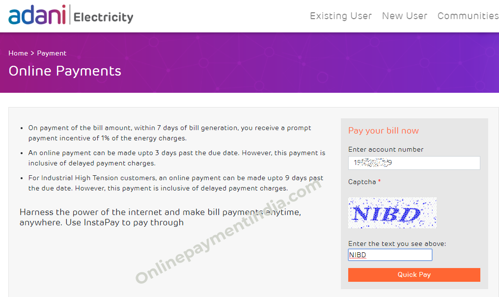 Adani Electricity Quick Bill Payment Online